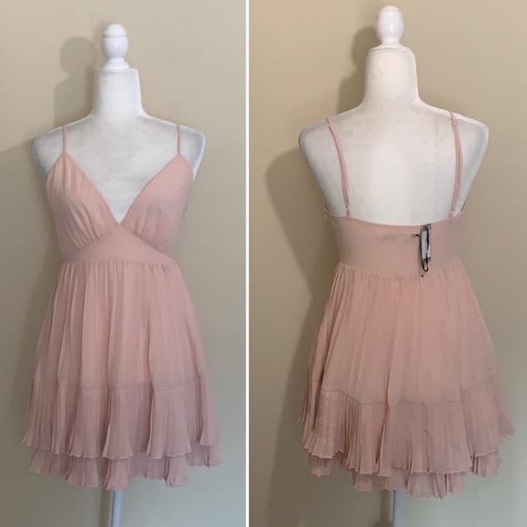 Lovers + Friends Dresses & Skirts - NWT Lovers + Friends Pink Tara Mini Babydoll Dress